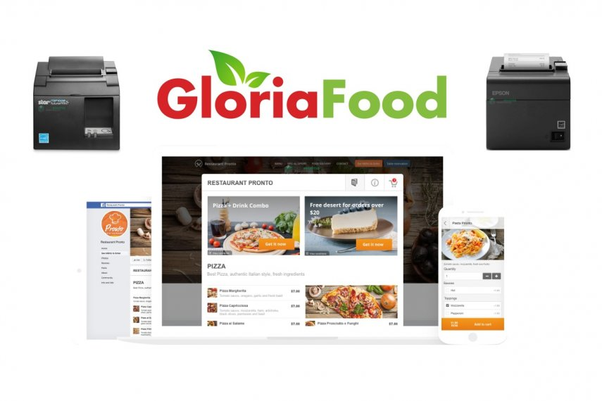 GloriaFood Compatible Order Printers