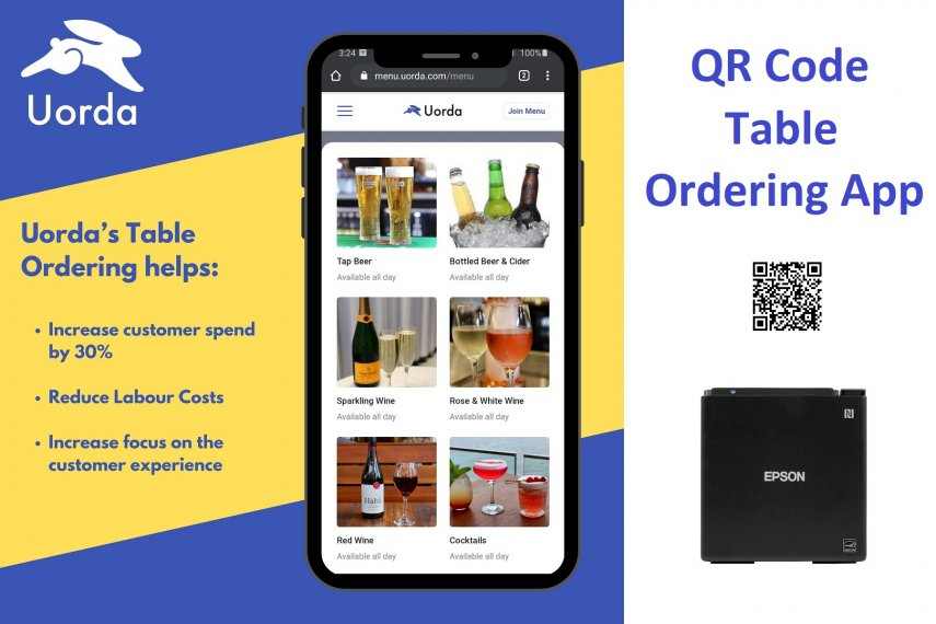 Uorda Contactless Mobile Ordering System