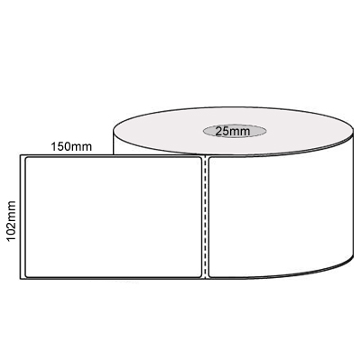 View 102mm X 150mm  Direct Thermal Labels Per Roll