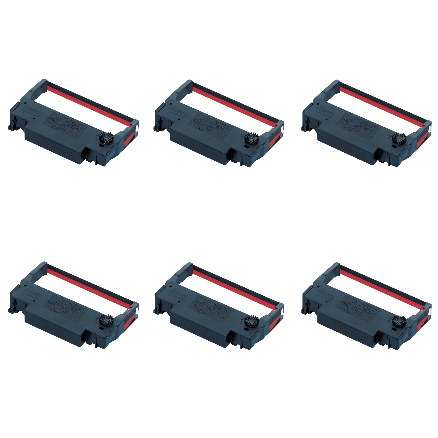 View Epson ERC 30/34/38 Red & Black Ink Ribbons - 6 Pack