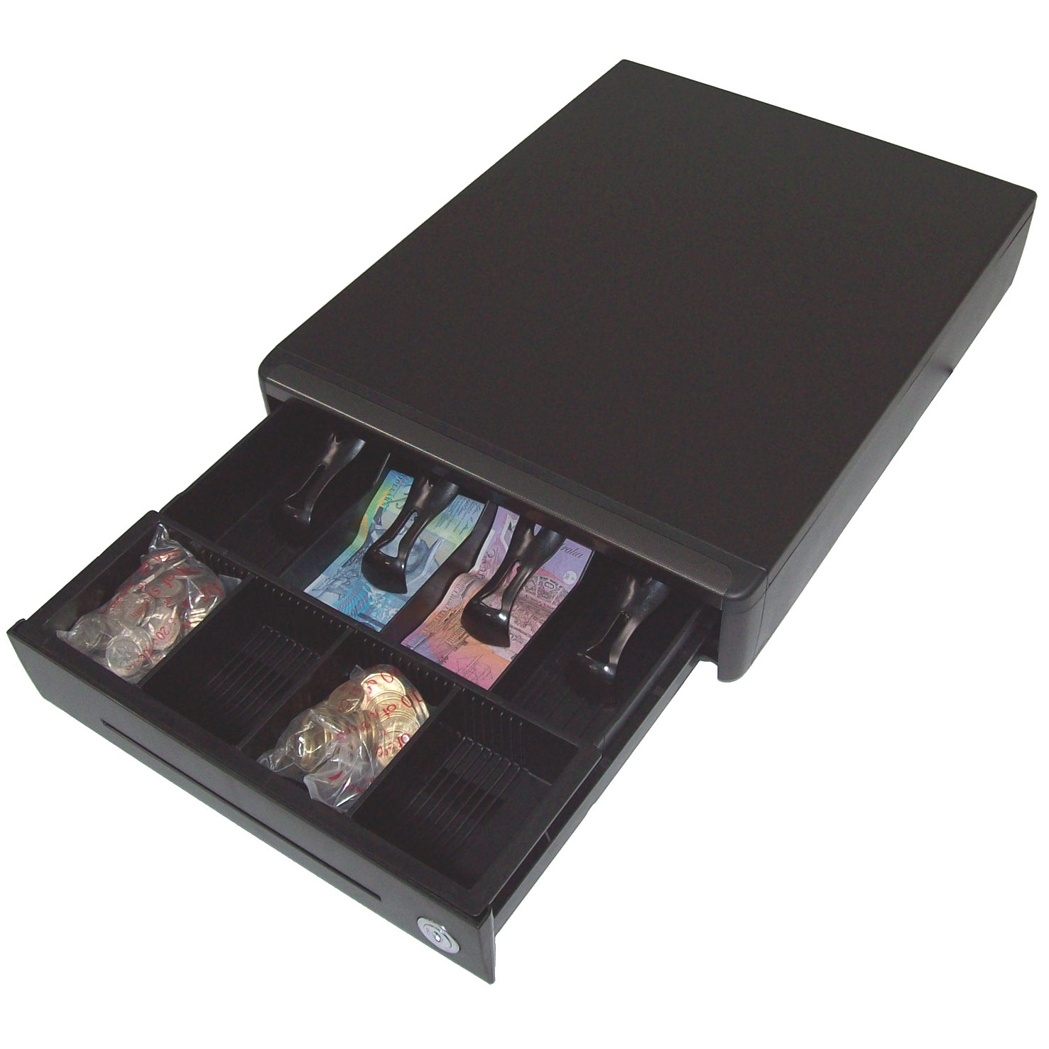 View Sam4s Small Compact Cash Drawer 24v
