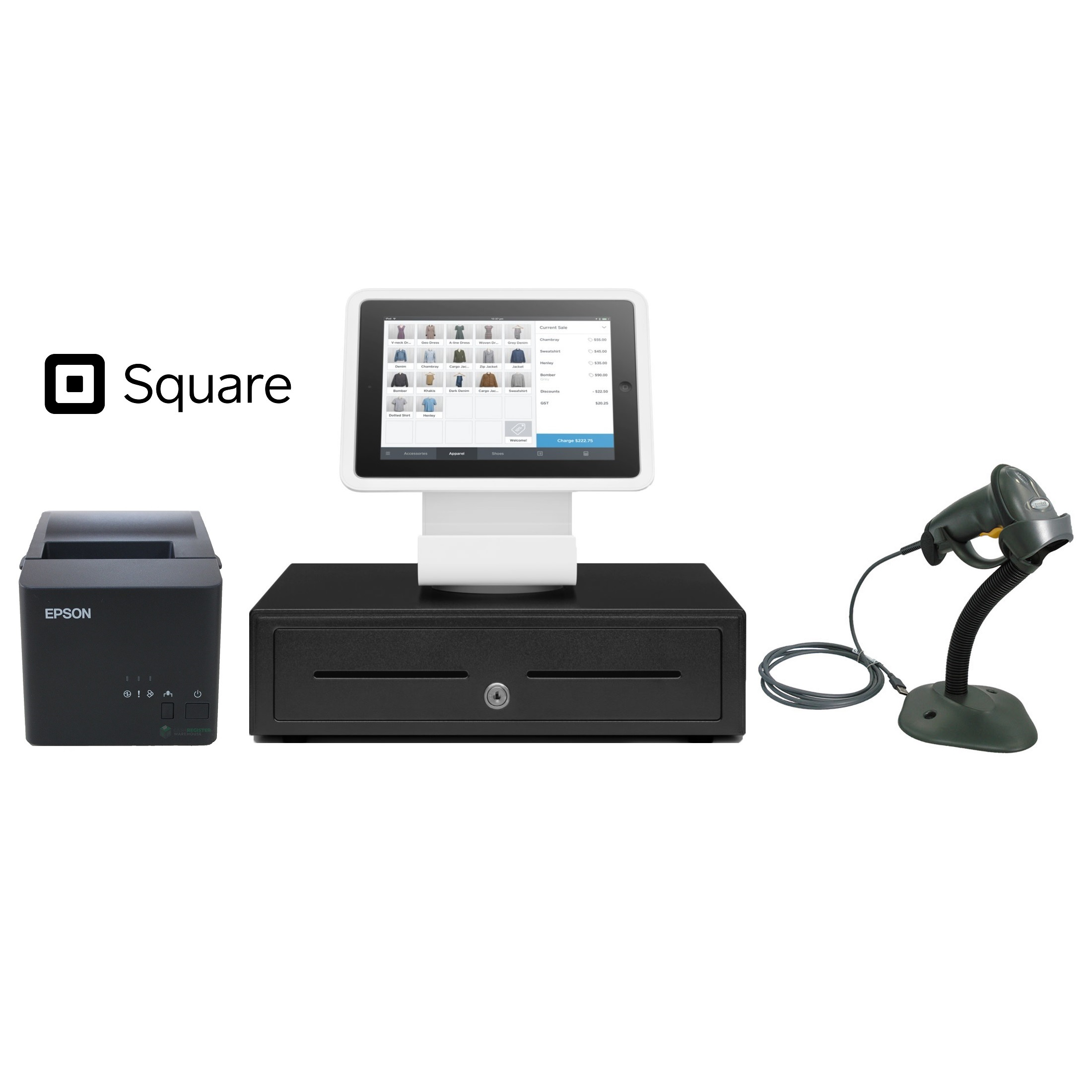 View Square Stand POS Hardware Bundle #8
