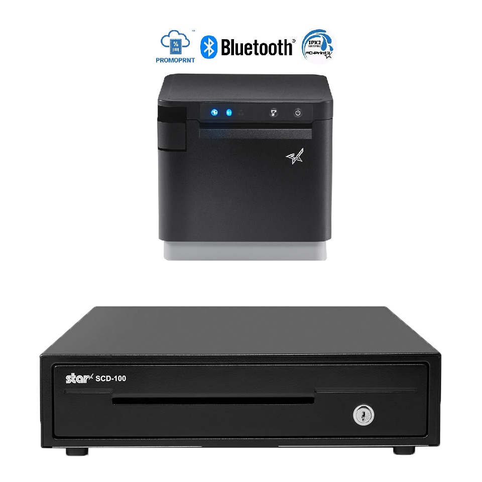 View Star MC-Print3 Receipt Printer + SCD-100 Cash Drawer Bundle